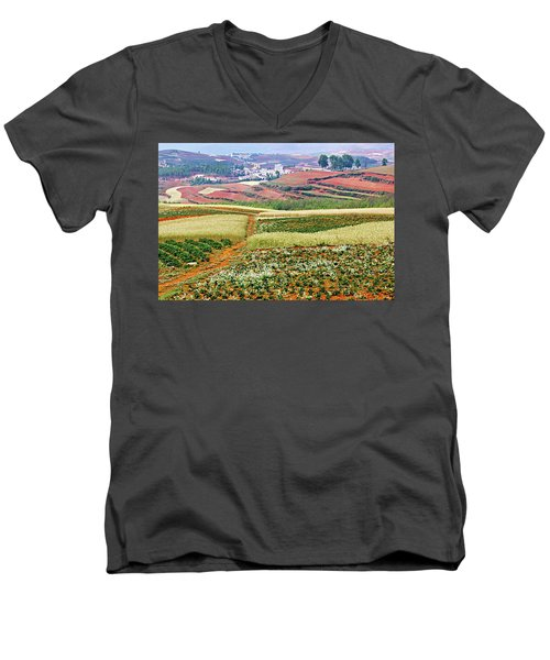 Fields Of The Redlands-1 Men's V-Neck T-Shirt
