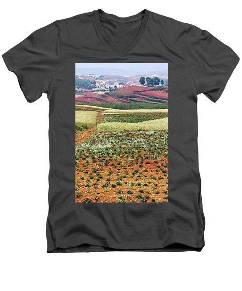 Fields Of The Redlands - 2 Men's V-Neck T-Shirt