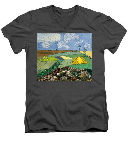 Fields To Gogh Men's V-Neck T-Shirt