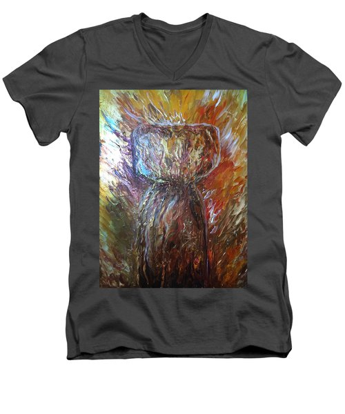 Fiery Earth Latte Stone Men's V-Neck T-Shirt