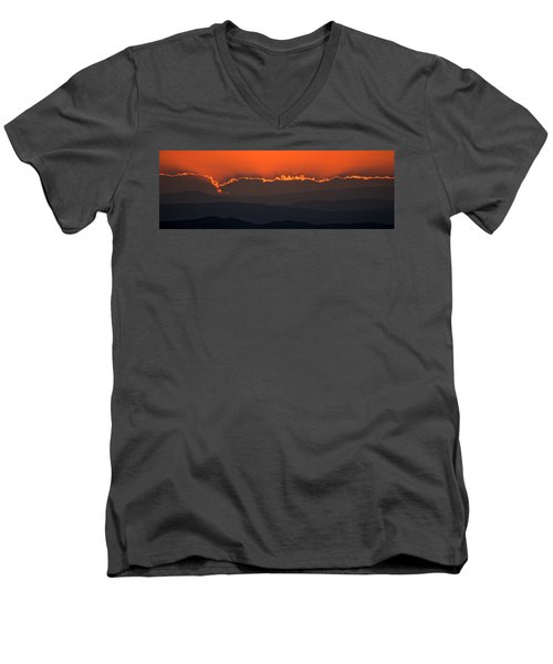 Fiery Sunset In The Luberon Men's V-Neck T-Shirt