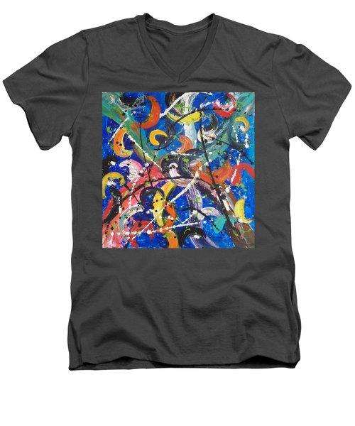 Fiesta Blue Men's V-Neck T-Shirt