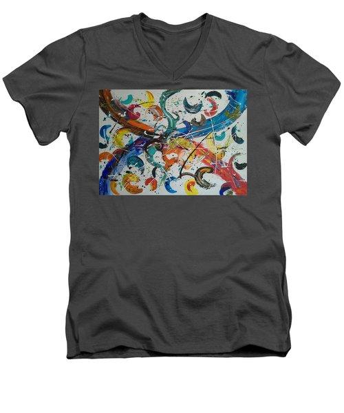 Fiesta White Men's V-Neck T-Shirt