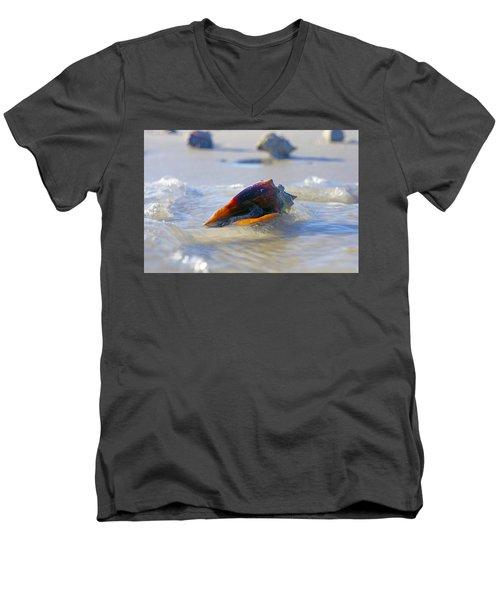 Fighting Conch On Beach Men's V-Neck T-Shirt