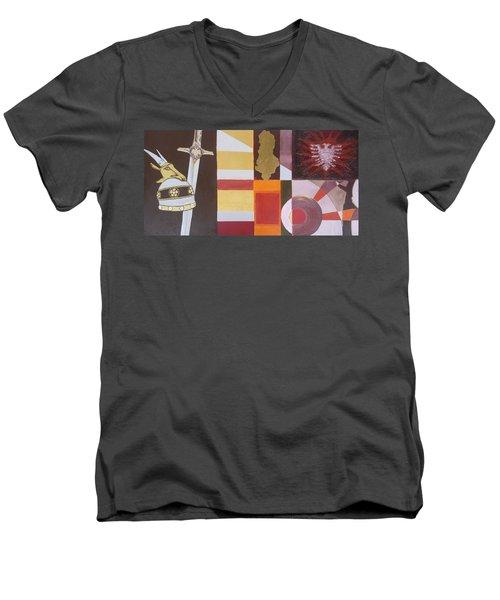 Figurativ Albanian Simbols Men's V-Neck T-Shirt