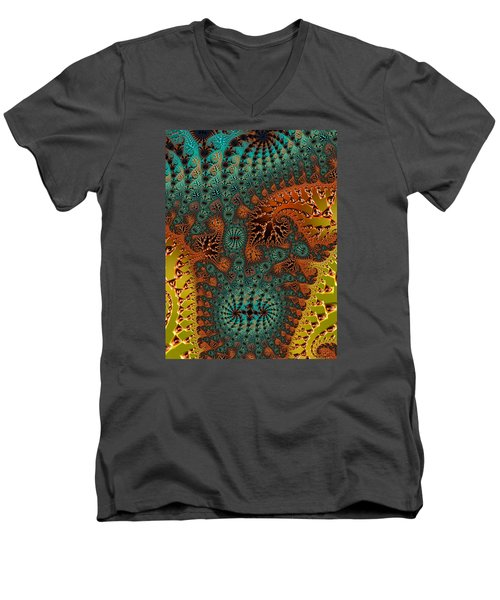 Men's V-Neck T-Shirt featuring the photograph Filigree And Lace by Ronda Broatch