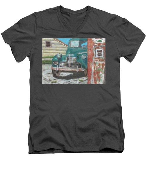 Fill 'er Up Men's V-Neck T-Shirt by Arlene Crafton