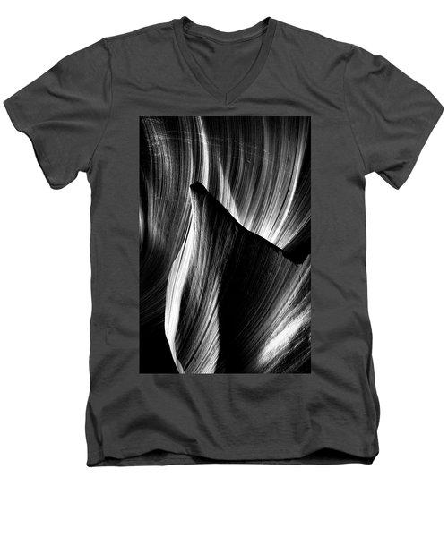Fin Men's V-Neck T-Shirt by David Cote