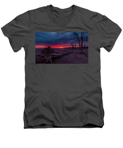 Final Sunset Men's V-Neck T-Shirt