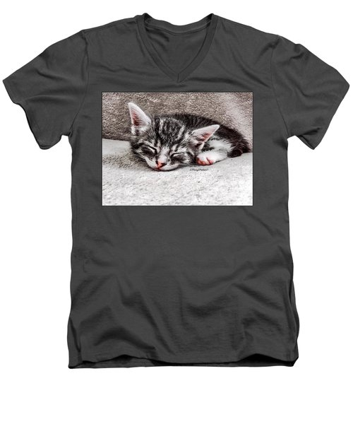 Finally Asleep  Copyright Mary Lee Parker 17  Men's V-Neck T-Shirt by MaryLee Parker