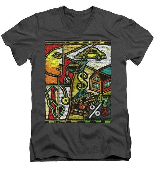 Finance And Medical Career Men's V-Neck T-Shirt by Leon Zernitsky