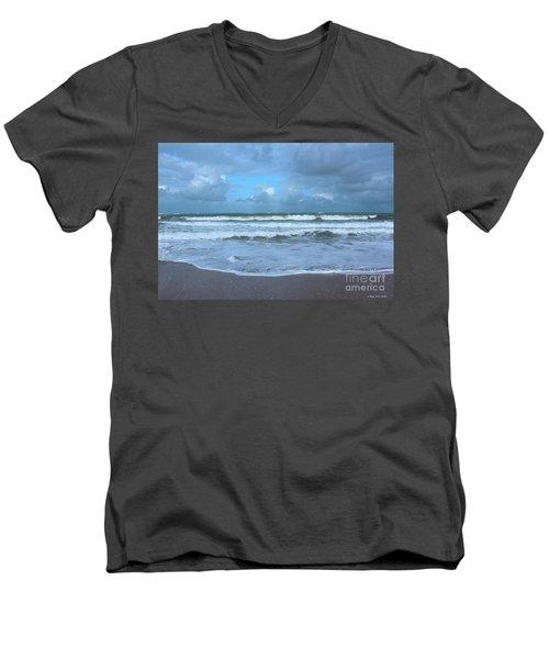 Find Your Beach Men's V-Neck T-Shirt by Megan Dirsa-DuBois