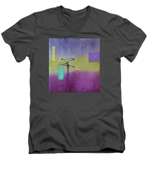 Finding Balance Men's V-Neck T-Shirt by Becky Chappell
