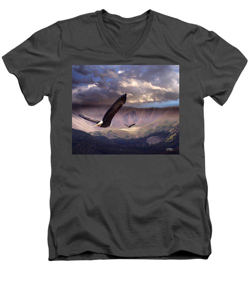Finding Tranquility Men's V-Neck T-Shirt by Bill Stephens