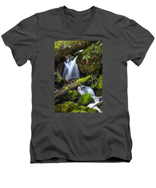 Finds A Way Men's V-Neck T-Shirt by James Heckt
