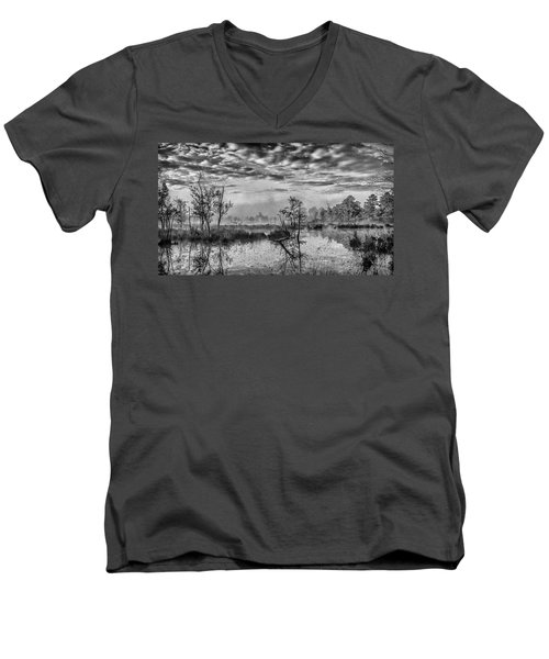 Fine Art Jersey Pines Landscape Men's V-Neck T-Shirt