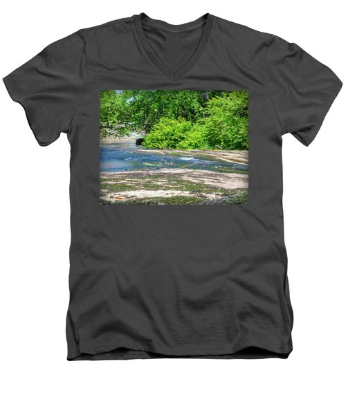 Fine Creek No. 3 Men's V-Neck T-Shirt by Laura DAddona