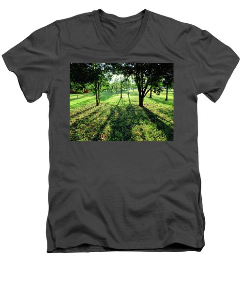 Men's V-Neck T-Shirt featuring the photograph Fine Shadows by Beto Machado