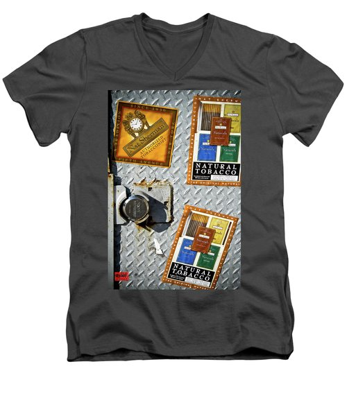Fine Smokes Men's V-Neck T-Shirt by Rennie RenWah