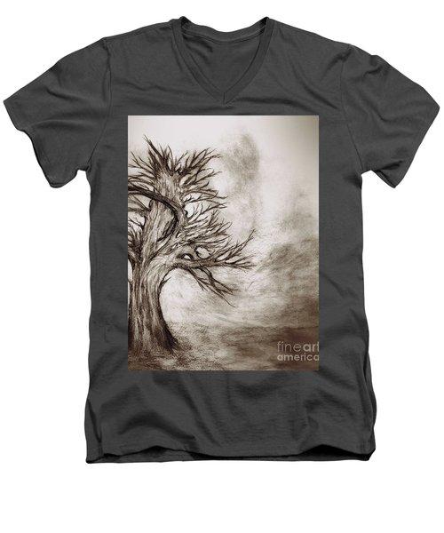 Finis 3 Men's V-Neck T-Shirt by John Krakora