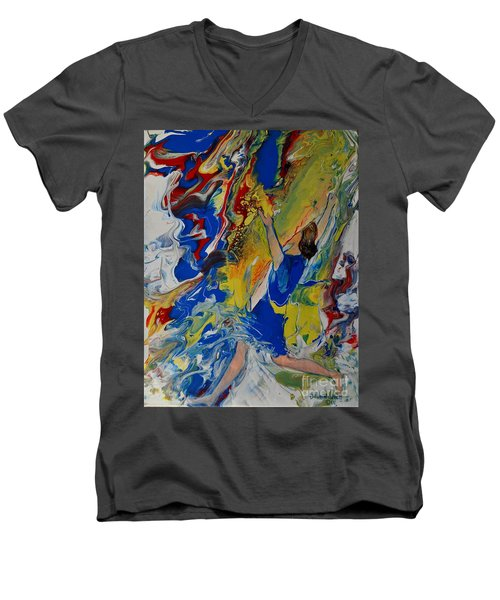 Finishing The Race Men's V-Neck T-Shirt