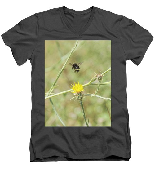 Finnon Bumble Bee Men's V-Neck T-Shirt