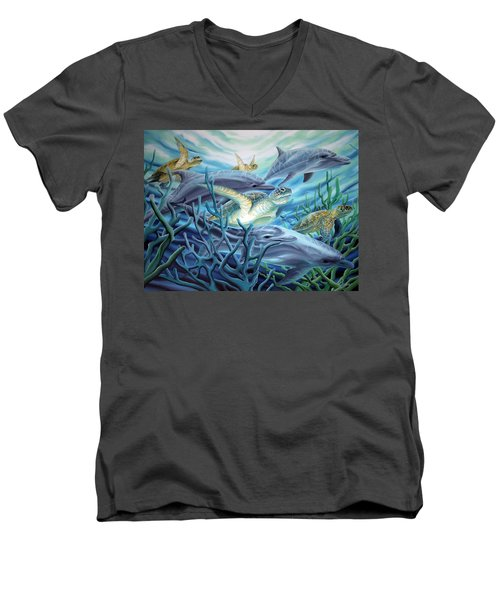 Fins And Flippers Men's V-Neck T-Shirt