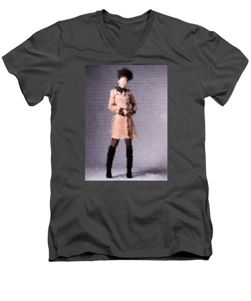 Men's V-Neck T-Shirt featuring the digital art Fiona by Nancy Levan