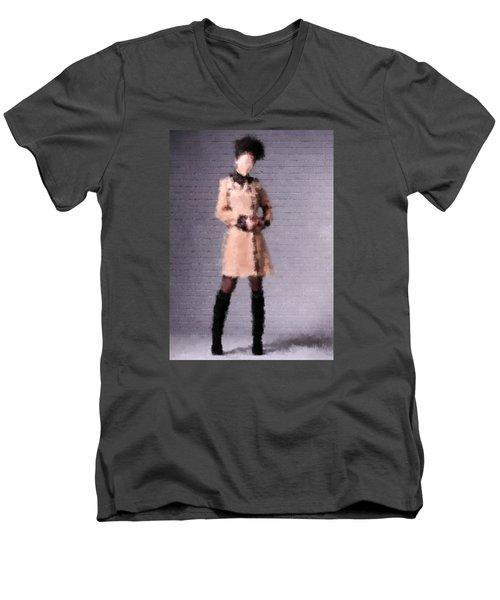 Men's V-Neck T-Shirt featuring the digital art Fiona by Nancy Levan