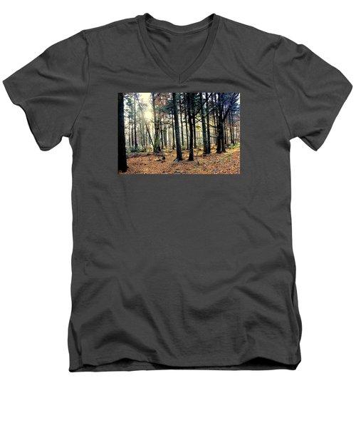 Fir Forest-3 Men's V-Neck T-Shirt