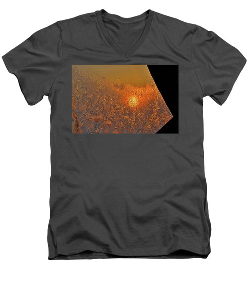 Men's V-Neck T-Shirt featuring the photograph Fire And Ice by Susan Capuano