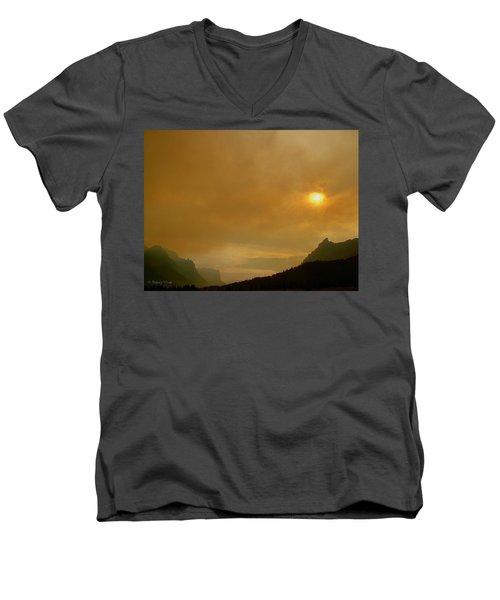 Fire And Sun Men's V-Neck T-Shirt