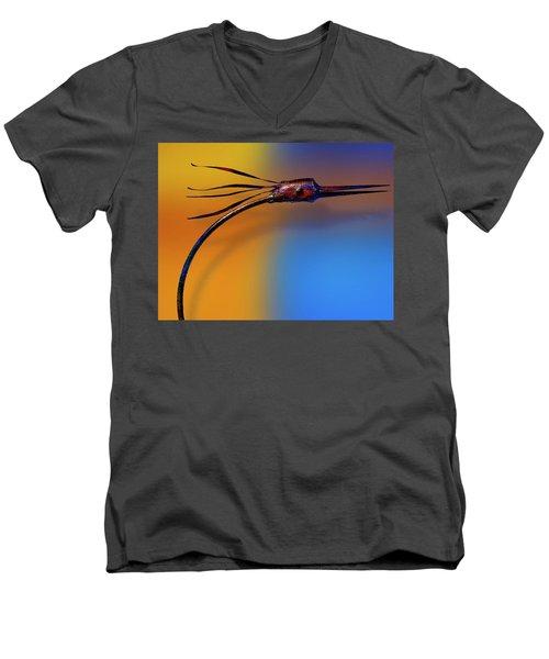 Men's V-Neck T-Shirt featuring the photograph Fire Bird by Paul Wear