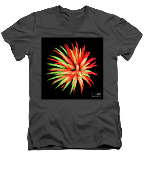 Fire Burst Men's V-Neck T-Shirt