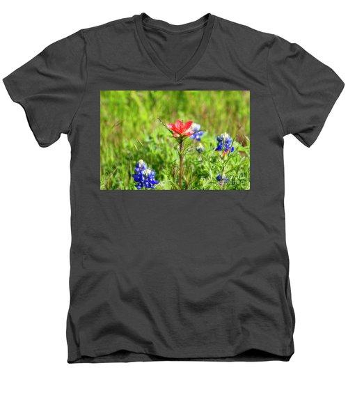 Fire Cracker Men's V-Neck T-Shirt