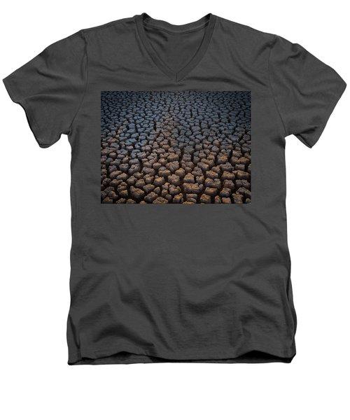Fire Cracks Men's V-Neck T-Shirt
