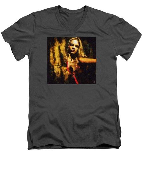 Fire Dance Men's V-Neck T-Shirt by Gun Legler