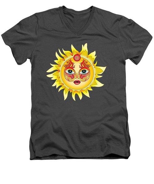 Fire Element Men's V-Neck T-Shirt by Serena King