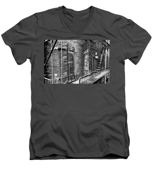 Fire Escape And Doors Men's V-Neck T-Shirt