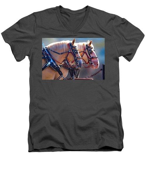 Fire Horses Men's V-Neck T-Shirt