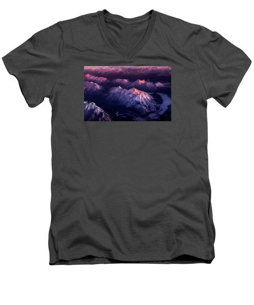 Fire In Ice Men's V-Neck T-Shirt by John Poon