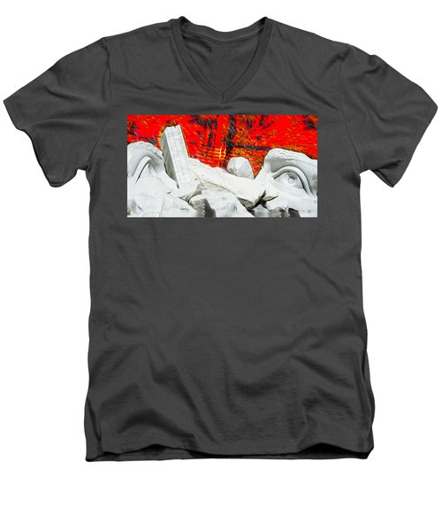 Fire In The Minds Of Men Men's V-Neck T-Shirt