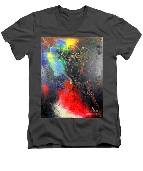 Fire Of Passion Men's V-Neck T-Shirt by Farzali Babekhan