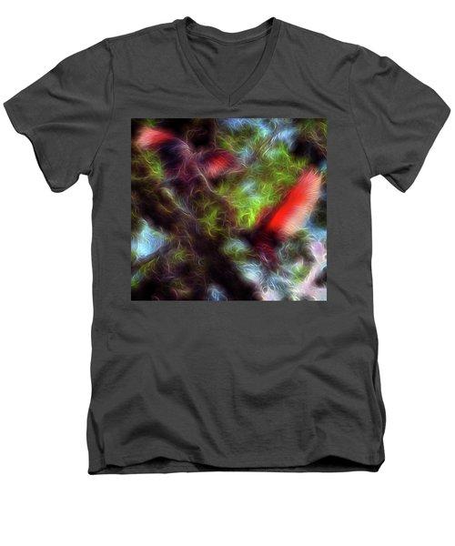 Fire Spirits 5 Men's V-Neck T-Shirt by William Horden