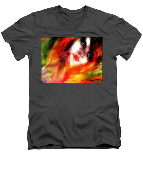 Fire Woman Men's V-Neck T-Shirt