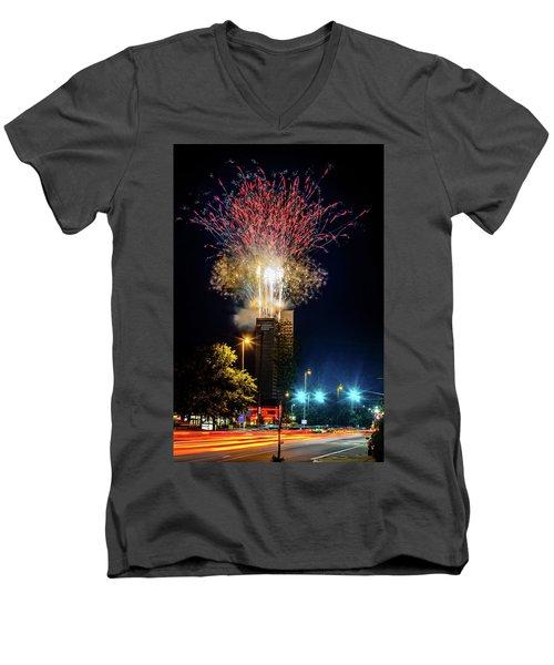 Fire Works In Fort Wayne Men's V-Neck T-Shirt