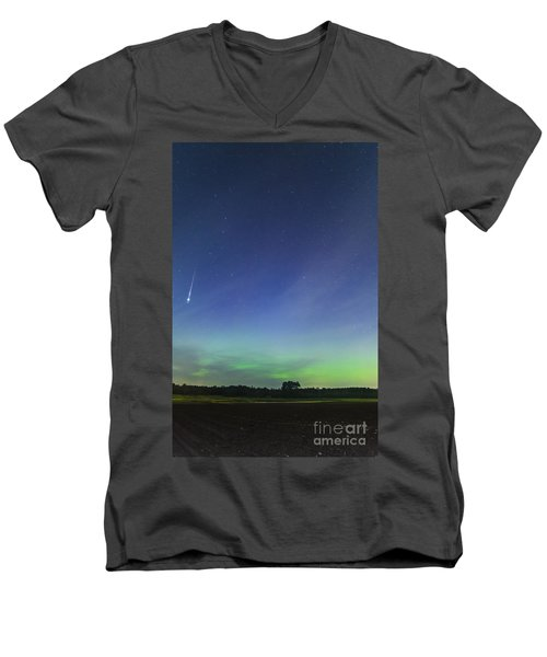Fireball Two Over The Farm Men's V-Neck T-Shirt