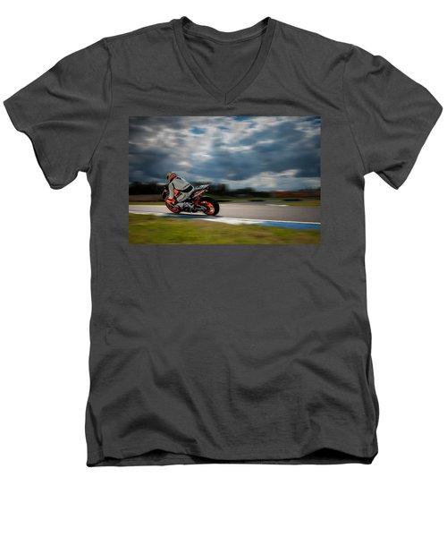 Fireblade Men's V-Neck T-Shirt by Ari Salmela