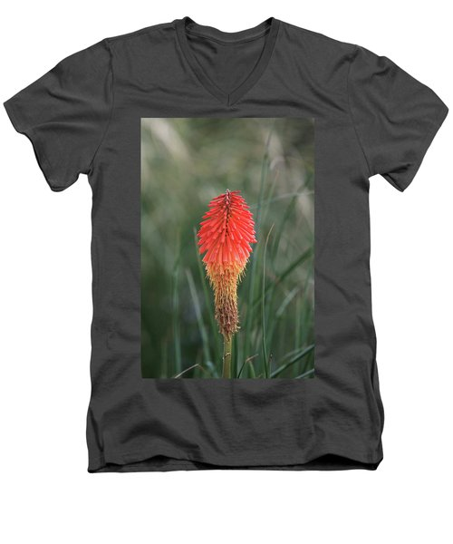 Men's V-Neck T-Shirt featuring the photograph Firecracker by David Chandler