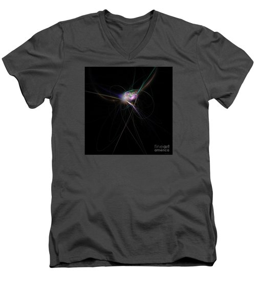 Firefly Scribble  Men's V-Neck T-Shirt by Elizabeth McTaggart